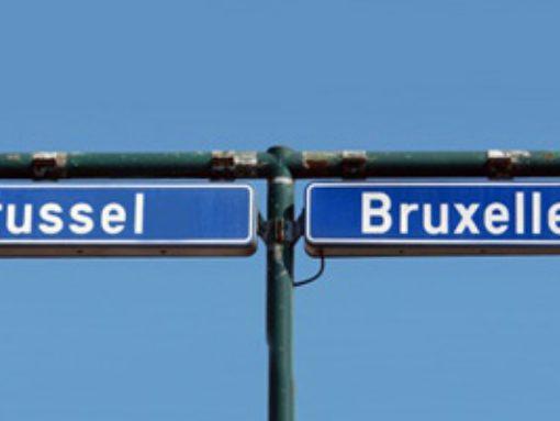 Foto wegwijzer Brussel