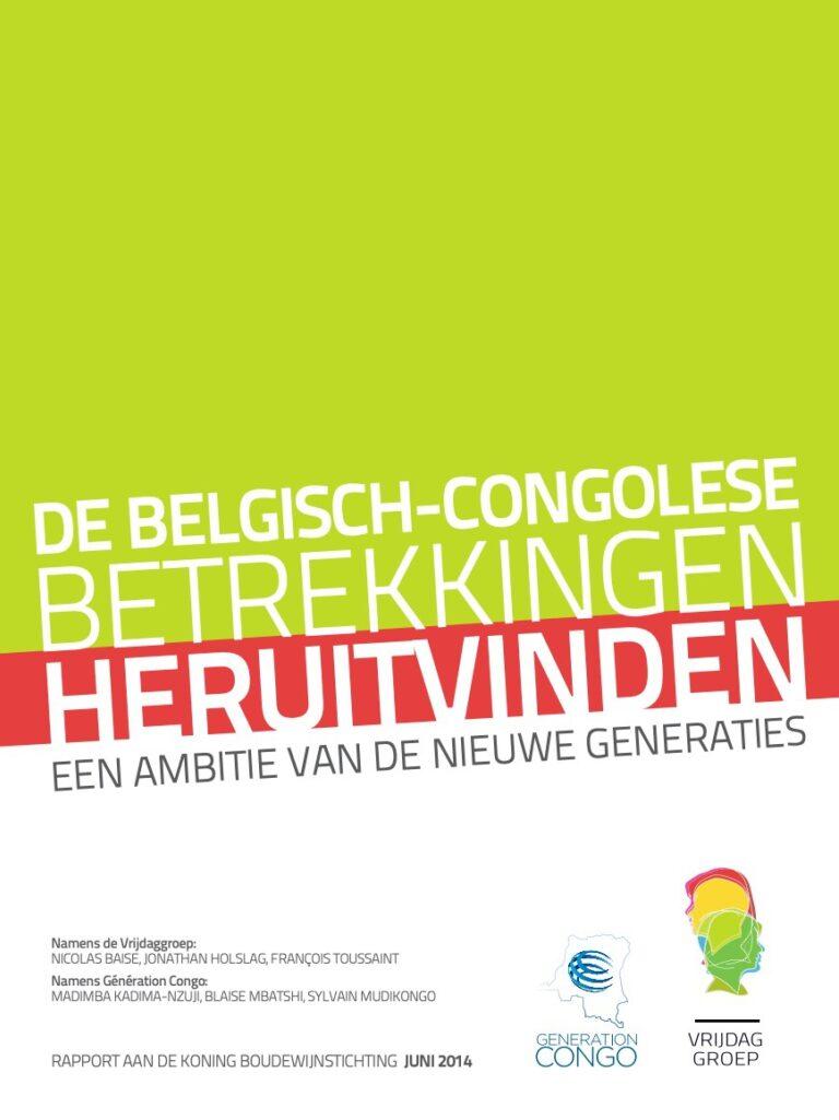 Vrijdaggroep de belgische congolese betrekkingen heruitvinden